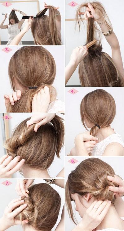 Стрижки на средние волосы на каждый день поэтапно