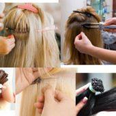 Наращивание волос виды