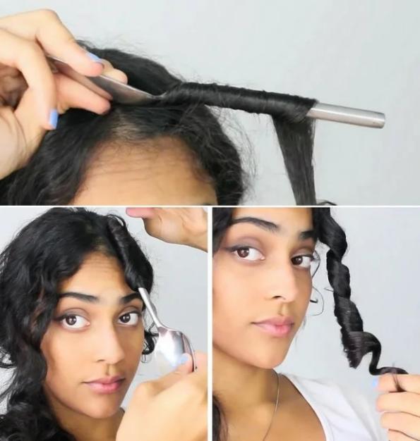 Лайфхаки для волос с помощью вилок и ложек